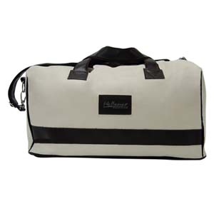 Bolsa personalizada com alça de mão e tira colo.