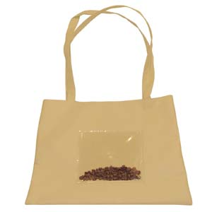 Bolsa sacola com impressão personalizada e alça tira colo.