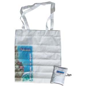 Bolsa sacola com impressão personalizada.