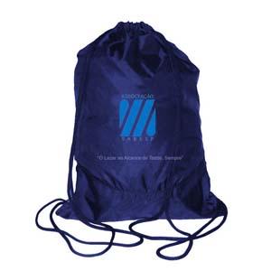 Mallumar - Mochila saco com cordão duplo e impressão personalizada.