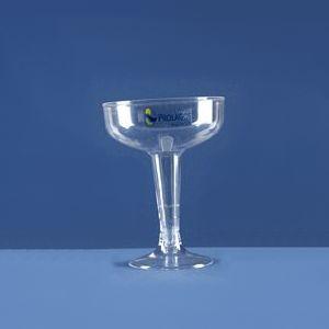 algo-mais - Taça para champanhe em modelo tradicional de plástico rígido transparente com capacidade para 130 ml. Quantidade mínima: 1.000 unidades. Gravação di...