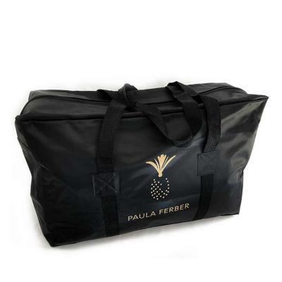 Bolsa / Sacola delivery em nylon 70 com alça em gorgurão, fechamento em zíper e impressão em silk...