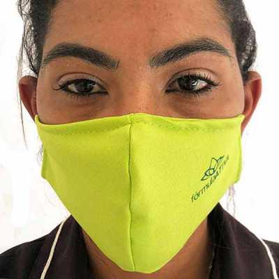 Máscara de proteção lisa em microfibra colorida