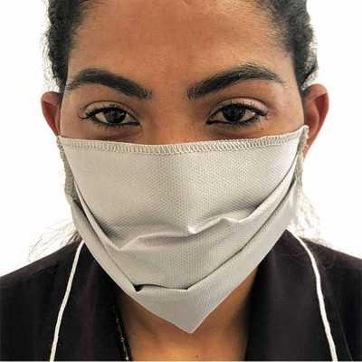 Máscara de proteção em TNT pregueada semi-descartável