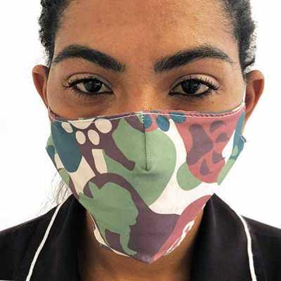 Máscara de proteção lisa em microfibra sublimada