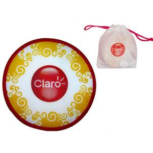 Freesbee dobrável, confeccionado em nylon, com estrutura em aço carbono. - Need Promocional