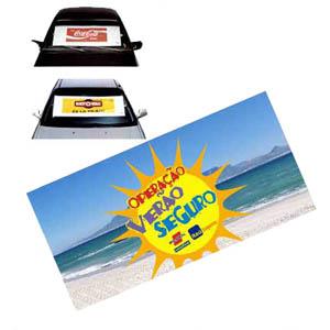 need-promocional - Tapa-sol roll-on confeccionado em TNT com ventosas e impressão personalizada.