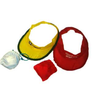 Need Promocional - Viseira dobrável, confeccionada em nylon.