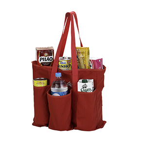 Suas compras organizadas em uma sacola s�.