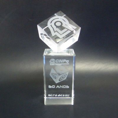 crystallium - Troféu personalizado.