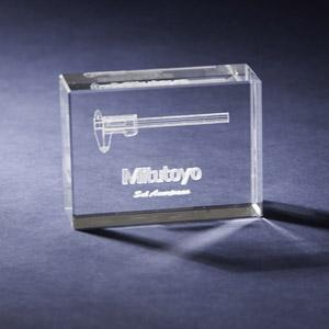crystallium - Cristal Personalizado com gravação a laser interna tridimensional. Modelo: Portrait.