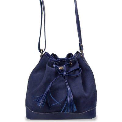 Bolsa feminina com alça transversal em couro - Artlux Brindes de  Couro