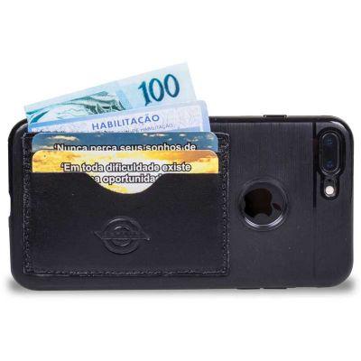 - Case para Iphone desenvolvida com porta cartão, porta dinheiro e porta CNH em um só lugar, a capa protege seu Iphone e mantém tudo que é de mais neces...