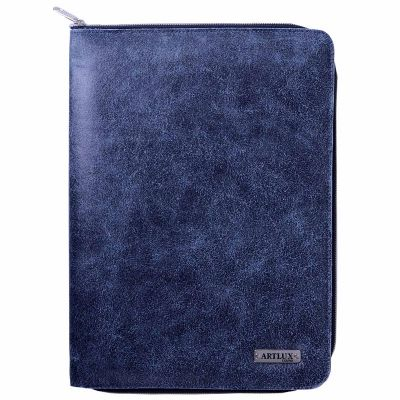 - Pasta para convenção ou eventos, espaço para folder, bloco e porta cartão. Acompanha uma caneta e folhas, fechamento com zíper, acabamento com debrum...