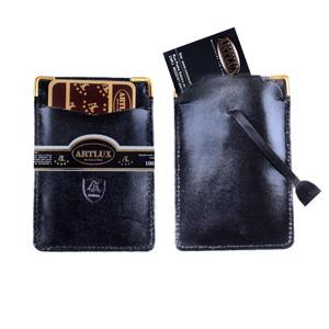 artlux-brindes-de-couro - Porta cartão personalizado.