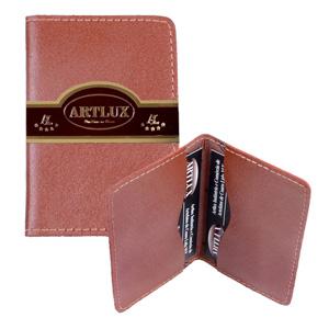 Artlux Brindes de  Couro - Porta cartão com dois compartimentos.