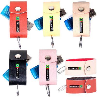 artlux-brindes-de-couro - Porta pen-drive
