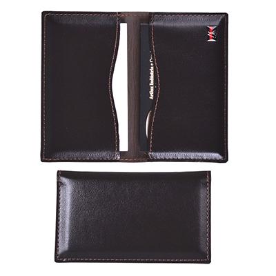 artlux-brindes-de-couro - Porta cartões de visita com dois compartimentos.