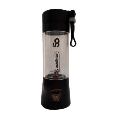 imagine-pack-brindes - Mini liquidificador smart. 380 ml. de plástico resistente. Tampa superior rosqueável com emoticon em relevo, alça emborrachada.