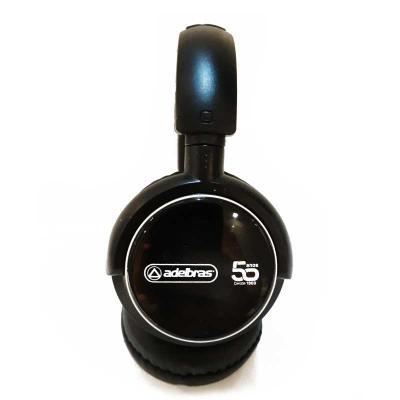 """Headphone wireless preto com haste ajustável e fones giratórios, """"tiara"""" e protetor de ouvido em couro sintético revestido de espuma. Indicador led, b... - Imagine Pack Brindes"""