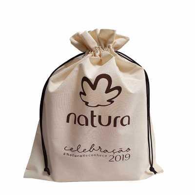 Imagine Pack Brindes - Saco 100% algodão. Produto ecológico. Fibra natural. Pode ser fabricado sob medida. Acabamento impecável.
