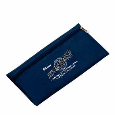imagine-pack-brindes - Necessaire de nylon 600 com zíper. Medida aproximada 12,7 X 25,4 cm.
