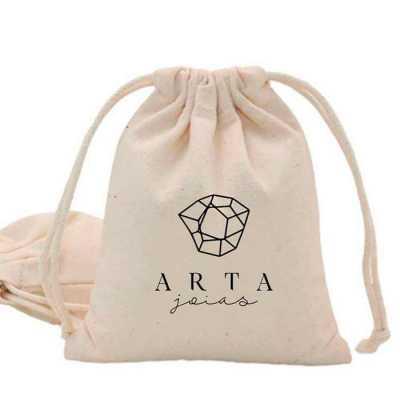 imagine-pack-brindes - Saco em algodão ecológico! Material retornável. Com ou sem impressão de logomarca. Confeccionado no tamanho que atende sua necessidade.