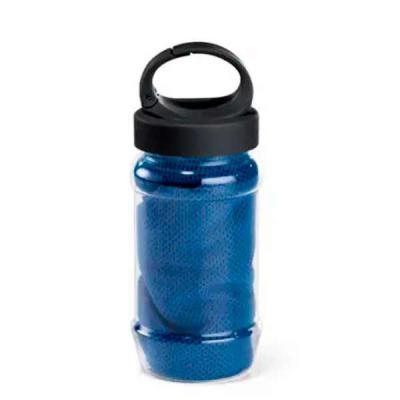 Imagine Pack Brindes - Toalha para esporte. Toalha refrescante...quando molhada, permanece fria durante horas. Basta balançá-la para reativar sua frescura. Garrafa com mosqu...