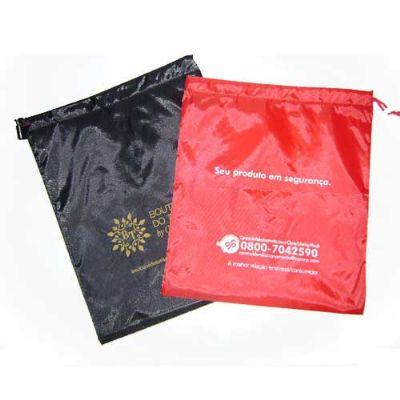 imagine-pack-brindes - Saco em nylon resinado, diversas cores e tamanhos, material bonito e resistente