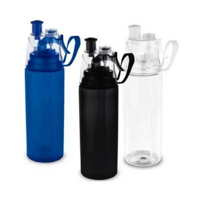 imagine-pack-brindes - Squeeze com borrifador de água. Capacidade até 600 ml. Disponível em 3 cores: preto, azul e transparente.