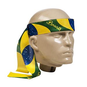 Fita para cabeça personalizada confeccionada em tecido Duralon® 3x100cm