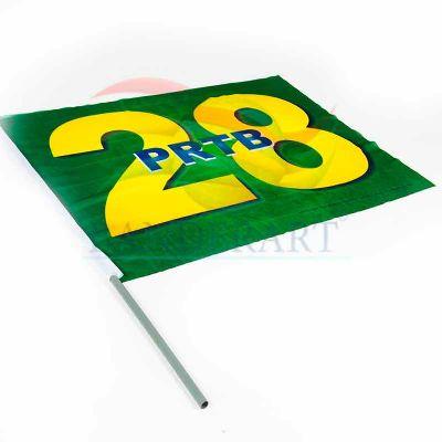 Bandeira torcedor político estampadas em tecido 100%poliéster. Indesmalhável.  Nas medidas: 0,70 x 1,00 m 0,90 x 1,30 m 1,40 x 2,00 m - Banderart