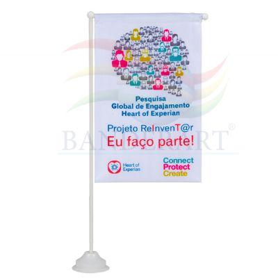 Estandartes de mesa promocionais personalizados confeccionados no tecido Duralon® 100% poliéster, - Banderart