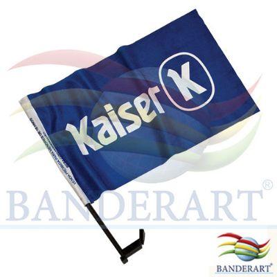 Bandeira para vidro de carro promocional - Banderart