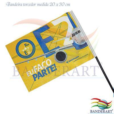 Bandeira em poliéster com haste para carro.