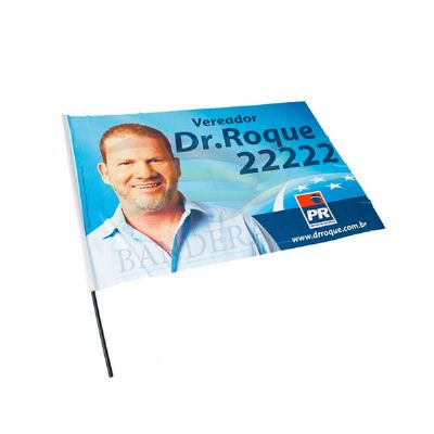Bandeira político tipo torcedor de tecido Duralon 100% poliéster.