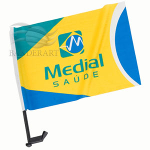 Bandeiras confeccionadas em tecido com gravação personalizada. - Banderart