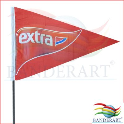 Bandeiras promocionais.