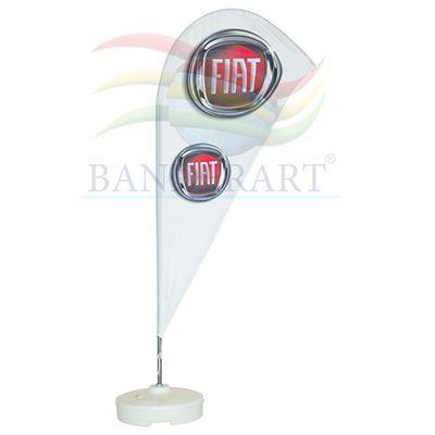 Banderart - Wind banners® em tecido Duralon® 100% poliéster com haste giratória e modelo patenteado.