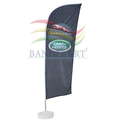 Banderart - Wind banners® em tecido Duralon® 100% poliéster com haste giratória desmontável