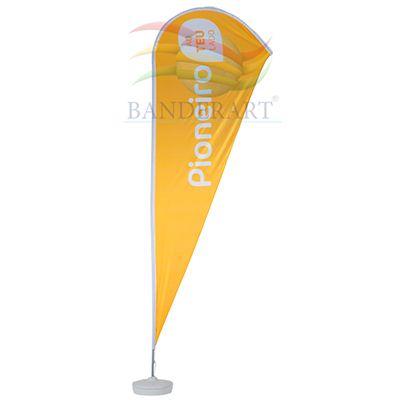 Banderart - Wind banner® é ideal para divulgação, em eventos em geral, praias, competições, ralis e exposições. Sua imagem será visível, devido sua estrutura. Gir...