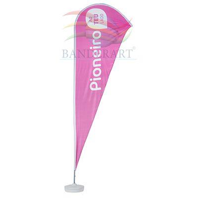 banderart - Windbanners® em poliéster com gravação personalizada e haste.