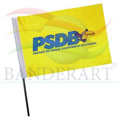 Bandeira político torcedor.