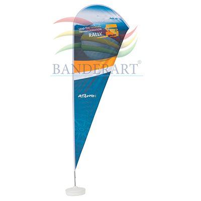 Banderart - Wind banner em poliéster com gravação personalizada