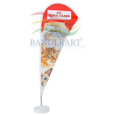 Banderart - Windbanner® confeccionado no tecido Duralon® 100% poliéster, com haste giratória desmontável