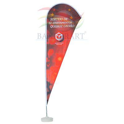 Banderart - Wind banner em poliéster com gravação personalizada e haste giratória.