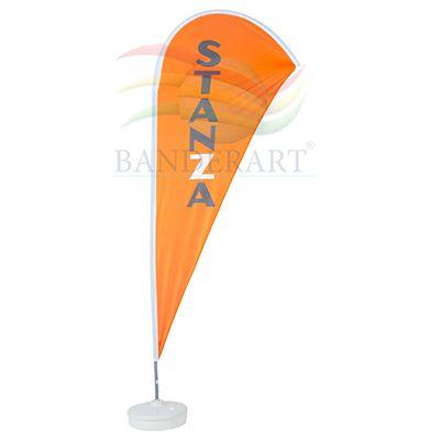Banderart - Wind banners em poliéster com haste giratória desmontável.