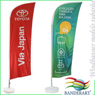 Banderart - Windbanners� confeccionados no tecido Duralon� 100% poli�ster