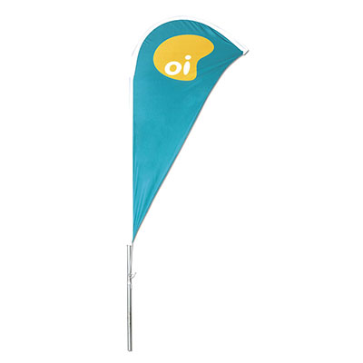 Banderart - Windbanners® confeccionados no tecido Duralon® 100% poliéster, com haste giratória desmontável