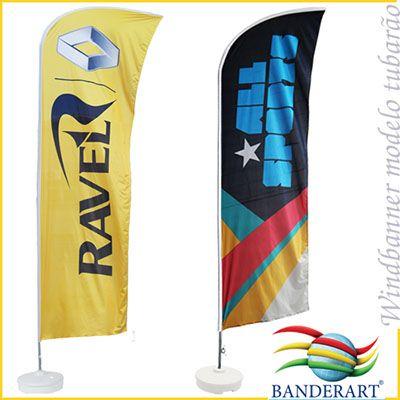 banderart - Windbanners® confeccionados no tecido Duralon® 100% poliéster.